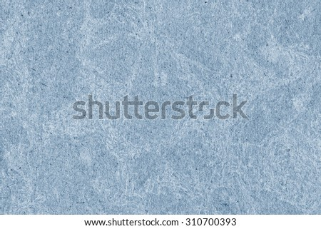 Recycle Kraft Paper, Coarse Grain, Crumpled, Blotted, Mottled, Stained Blue, Grunge Texture Sample.