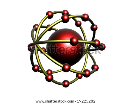 Red and yellow molecule