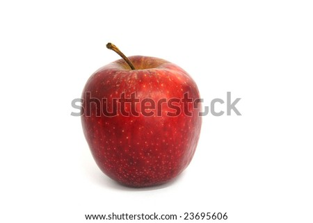 red apple in white background