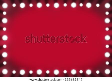 Brown Back Stage Light Mirror White Stock Illustration