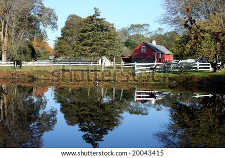 Red Barn on a Lake