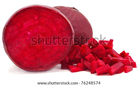 red beetroots isolated on white background