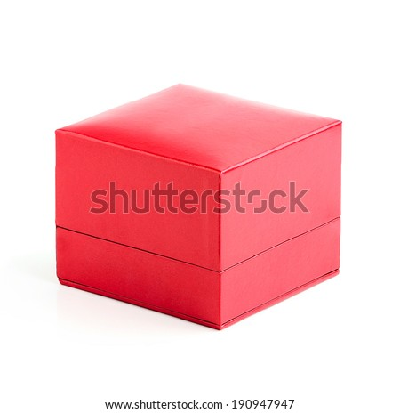 Red box isolated on a white background.