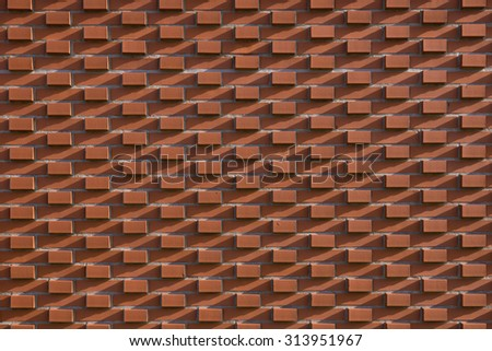 Red brick wall, industrial background for your design
