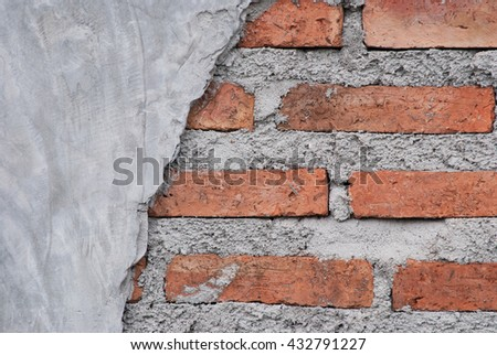 Red brick wall texture bright plaster wall