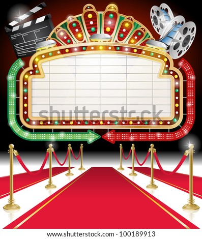 Red Carpet and sign