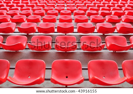 red chairs in the stadium