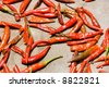 red chilis at marketplace - stock photo