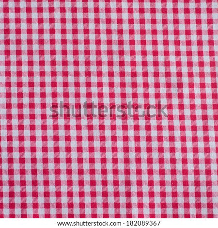 Red classic checkered tablecloth texture, background with copy space