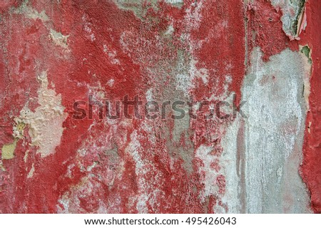 red damaged and stained wall background