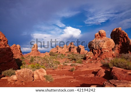 Red Desert, Arches National Park, Utah, USA