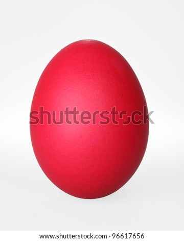 red easter egg isolated on white with clipping path