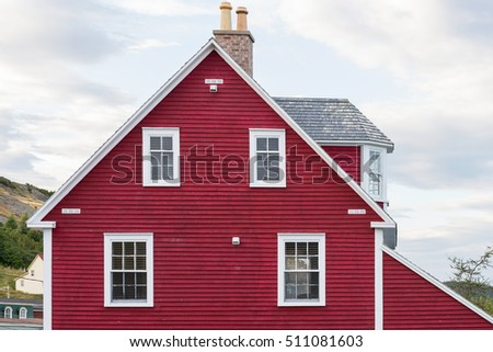 Red house with an attic room