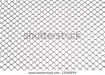 Red metallic net