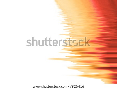 Red orange stripes on white with ripple effect
