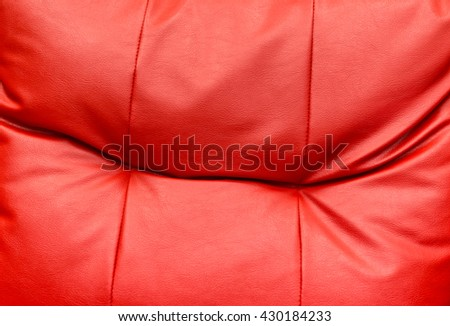red pillow close up