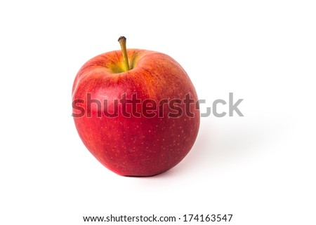 Red ripe apple isolated on a white background