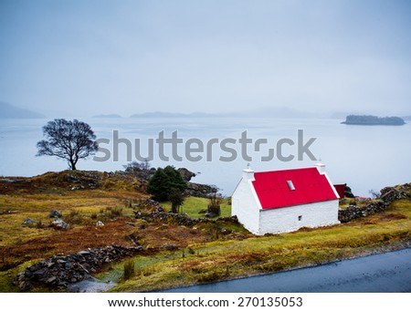 Red-Roof of an isolated house in teh highlands
