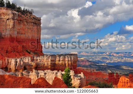 Red Sandstone Canyon cliffs at Bryce Canyon national park, Utah