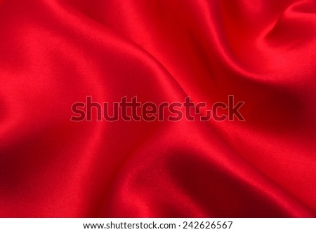 red satin or silk fabric as background
