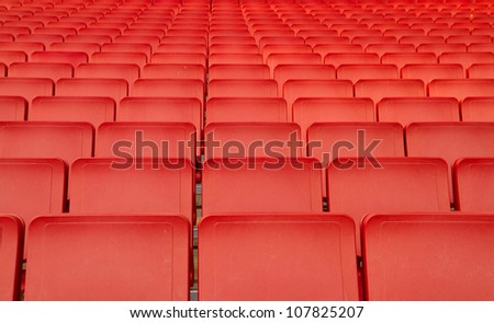 Red seats in big stadium