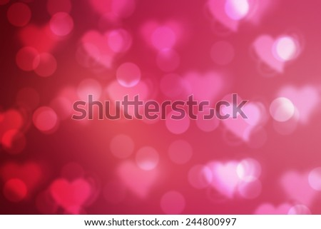 Red valentine sparkle bokeh background or bokeh wallpaper