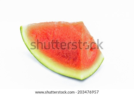 Red watermelon isolated
