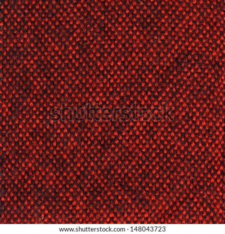 Red wool fabric