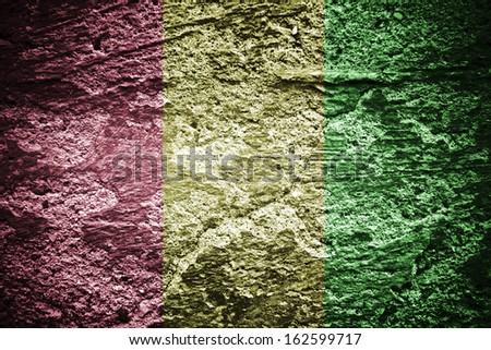 Red, yellow, green rasta flag jamaica texture - stock photo