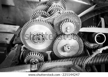 Reduction gear drive mechanism of the machine tool