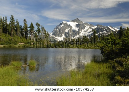 Reflections of Mount Shuksan in North Cascades
