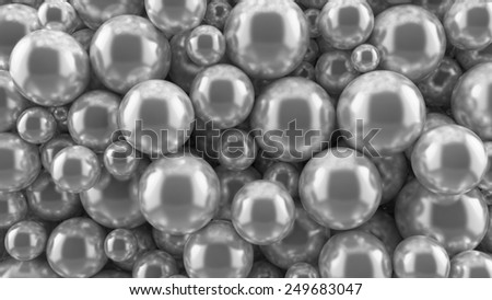 reflective metal balls background