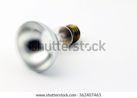 Reflector bulb isolated on a white background.