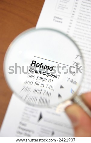 Refund from tax form 1040