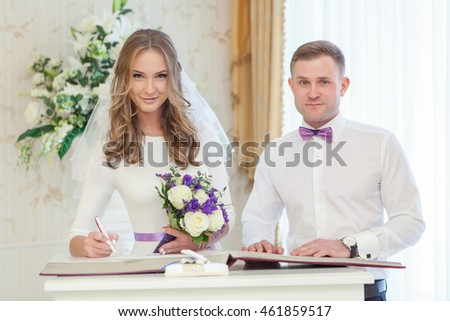 Registration of marriage in a registry office