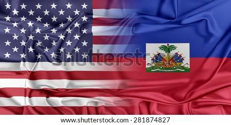 Usa Haiti Relationships Stock Illustration Shutterstock - Map of haiti in relation to us