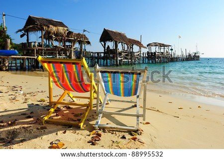 Relax Chair on the Beach
