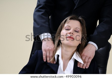 relaxed business woman for massage