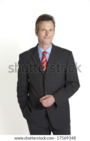 relaxed portrait of senior businessman