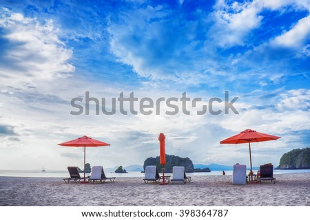 Relaxing at the beach in Langkawi, Malaysia