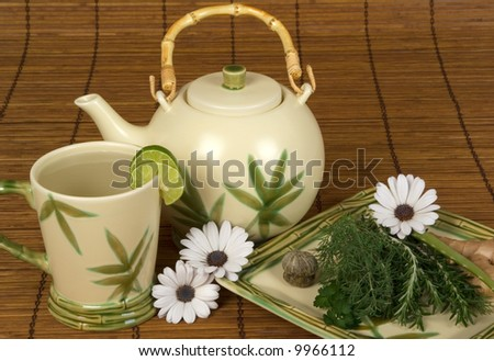 Relaxing herbal white tea ready for spa customers