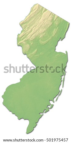 Map United States New Jersey Stock Vector Shutterstock - Us map new jersey