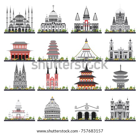 Vector graphic symbols india map india stock vector for Religious buildings in india