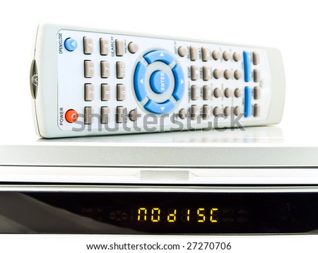 remote control over dvd player with no disc title