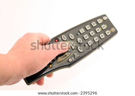 Remote controller in the hand