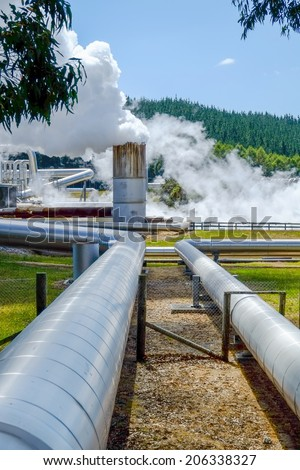Renewable energy geothermal field