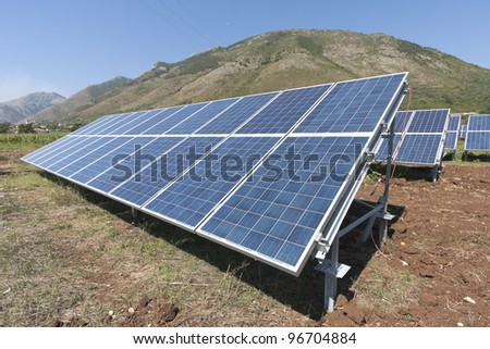 Renewable energy with solar panels