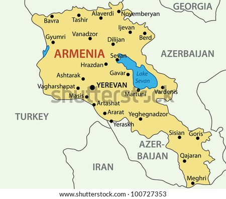 Republic of Armenia -  map