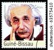 REPUBLIC OF GUINEA-BISSAU - CIRCA 2000: A postage stamp printed in the Republic of Guinea-Bissau showing Albert Einstein, circa 2000 - stock photo