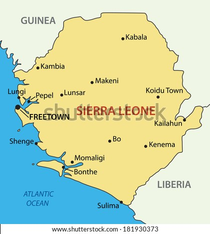 Republic of Sierra Leone - map